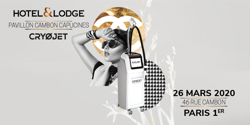 CRYOJET exposant au salon Hôtel & Lodge Awards le 26 mars 2020