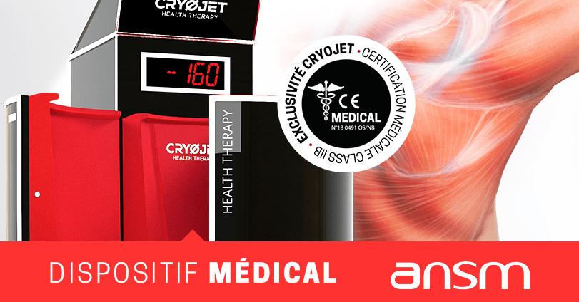 Cabine de cryothérapie CRYOJET dispositif médical