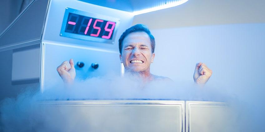 Quelle est la température d'une cabine de cryothérapie ?
