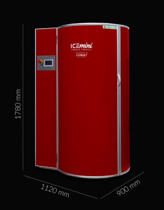 Nouvelle cabine de cryothérapie petite et sécurisée