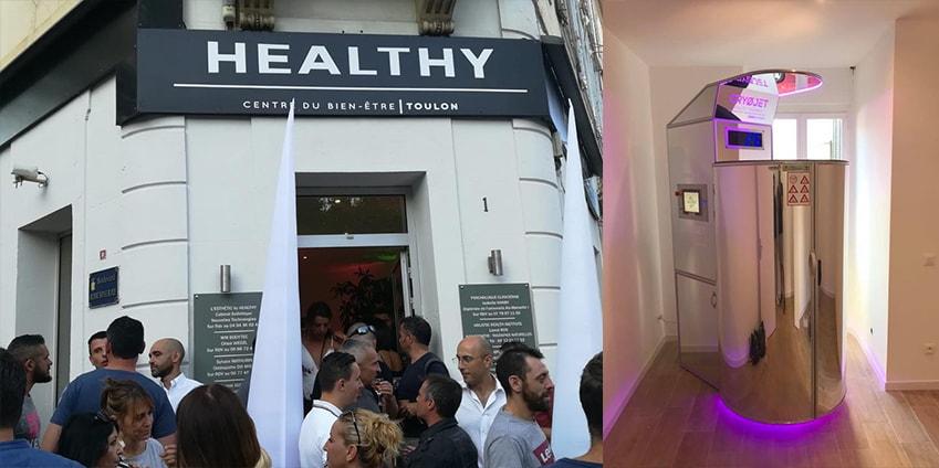 Cabine de cryothérapie chez Healthy centre du bien-être à Toulon