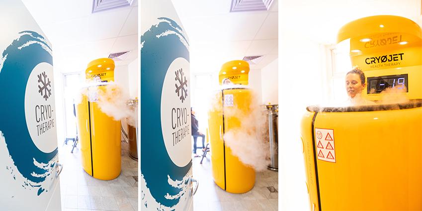Séance de cryothérapie corps entier chez Aqua'Bulles