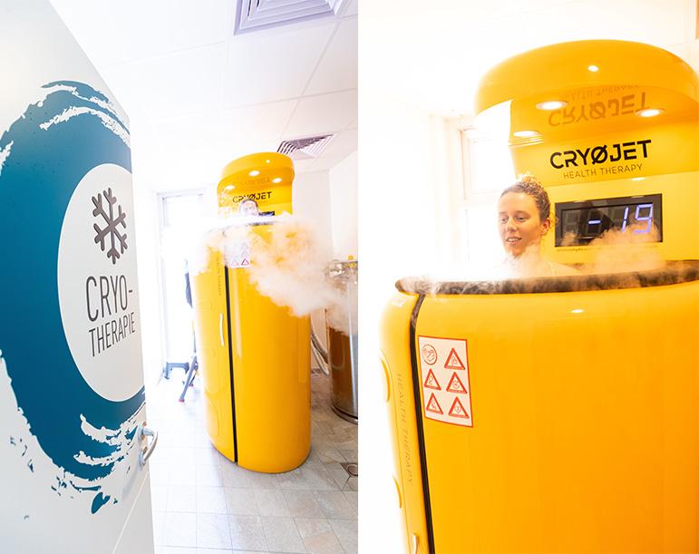 Séances de cryothérapie corps entier chez Aqua Bulles