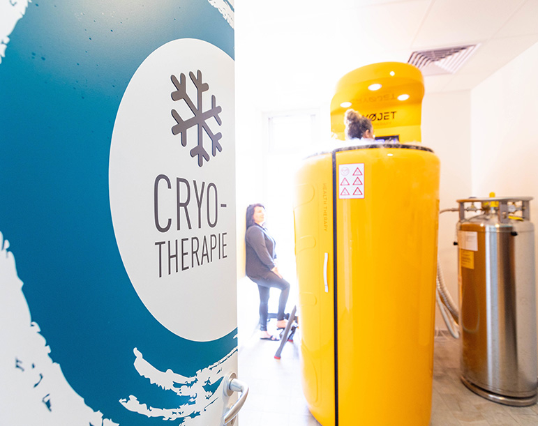 La cryothérapie corps entier dans l'espace bien-être d'Aqua'Bulles