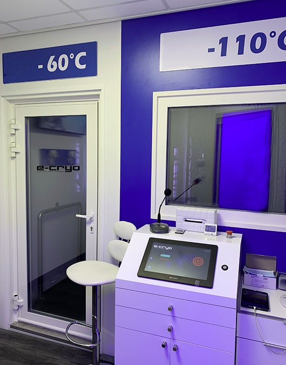 Chambre de cryothérapie personnalisation E-CRYO