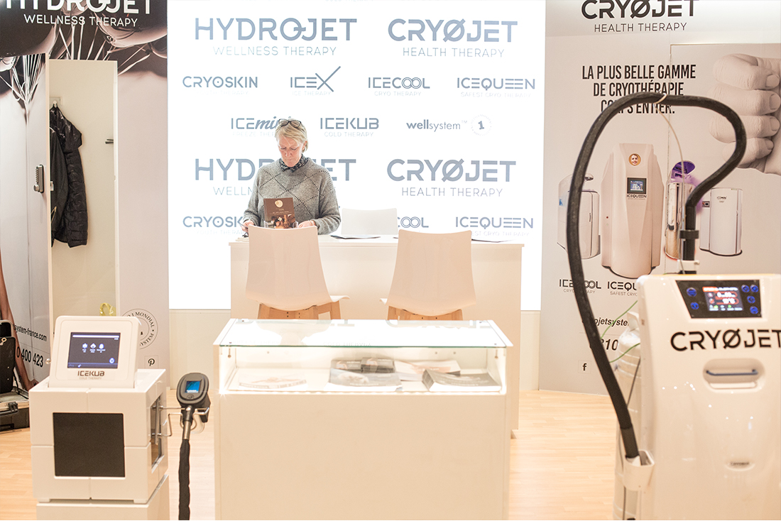 Stand Cryojet au salon des Thermalies 2018