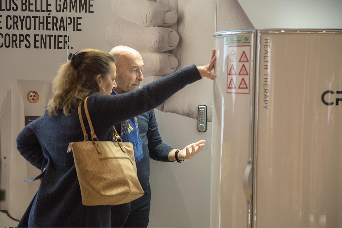 Présentation cabine de cryothérapie Ice Mini au salon Thermalies 2018