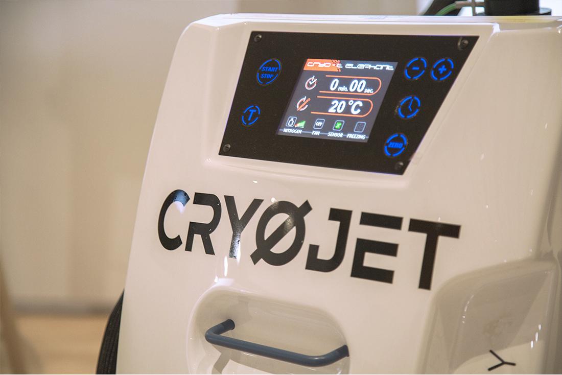 Cryo facial avec CryoSkin au salon des Thermalies