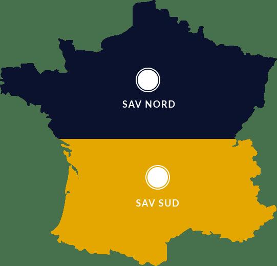 Le SAV Nord / Sud